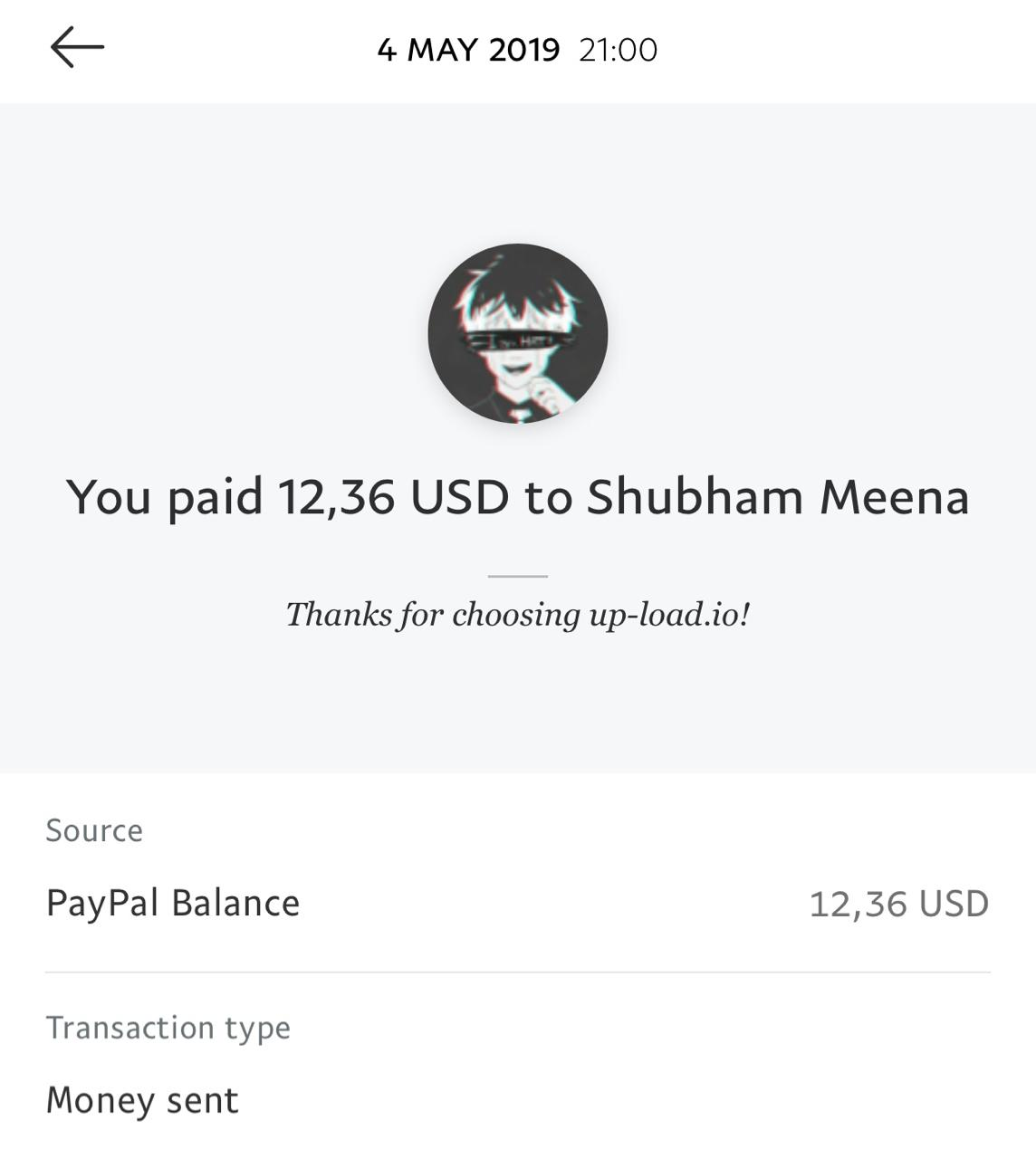 UP-LOAD.IO Payment Proof